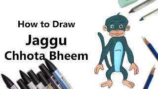 How to Draw and Color Jaggu from Chhota Bheem with ProMarkers [Speed Drawing]