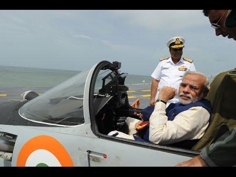 PM Narendra Modi on board INS Vikramaditya