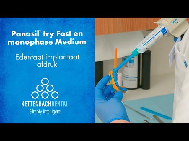 Edentaat implantaat afdruk met Panasil® monophase medium als fixatie afdrukmateriaal.