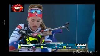 Anastasia Kuzmina winer Biathlon Women's sprint Holmenkollen 2019 Fialková ,Preuss