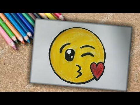 How To Draw Cute Kissing Emoji - Very Easy - SHN Best Art