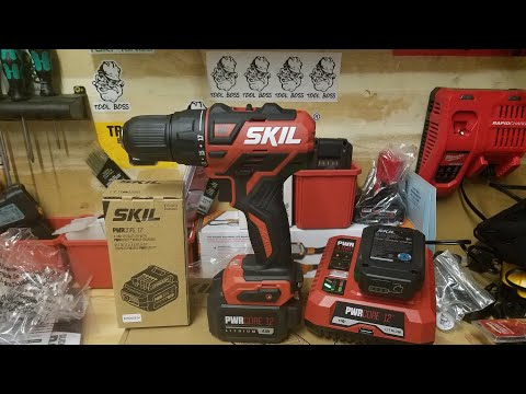 SkiL 12v PWRCRE Brushless Drill/Driver And 4ah Battery First Look/Unboxing