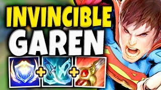 INVINCIBLE GAREN! 92% DAMAGE REDUCTION BUILD MAKES GAREN UNKILLABLE! (BROKEN) - League of Legends