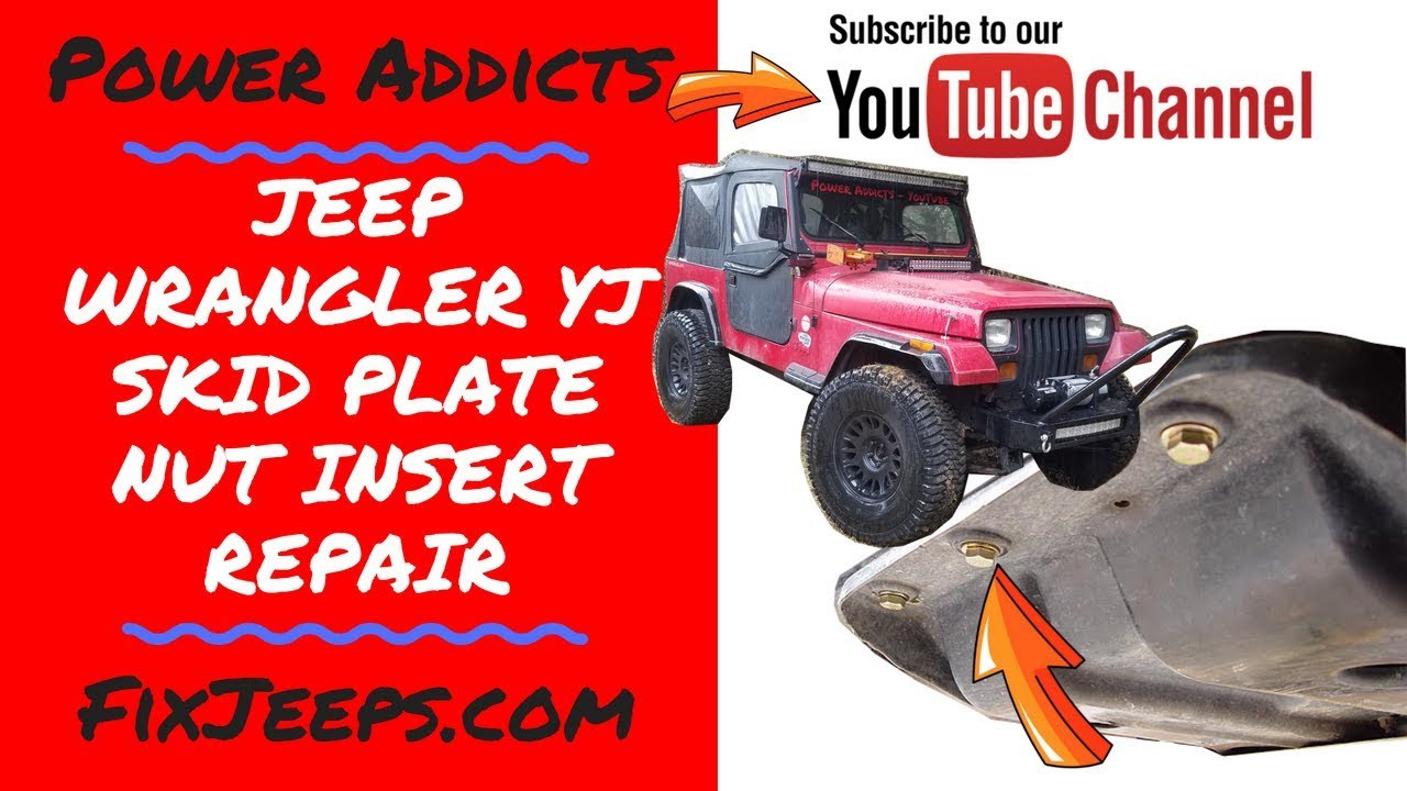 hight resolution of jeep wrangler skid plate nut insert frame repair skidplate rustedbolt
