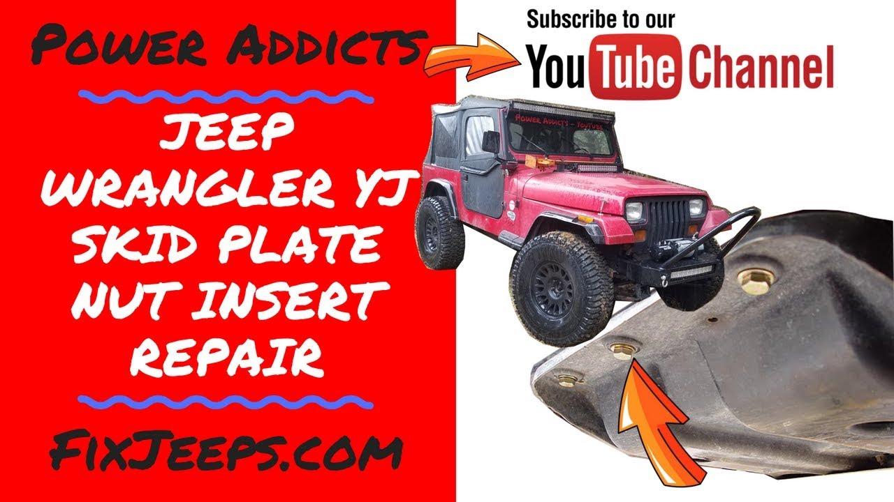jeep wrangler skid plate nut insert frame repair skidplate rustedbolt [ 1280 x 720 Pixel ]