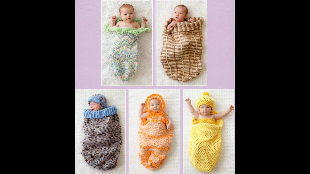 Dreamy Cocoons 6 Sacks and Caps to Crochet Preview Patterns for Baby ...