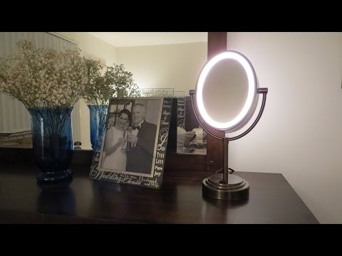 Conair Oval Lighted Mirror (Bronze Finish) - unboxing