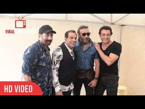 Jackie Shroff Meet Dharmendra at Sunny Super Sound Andheri Mumbai