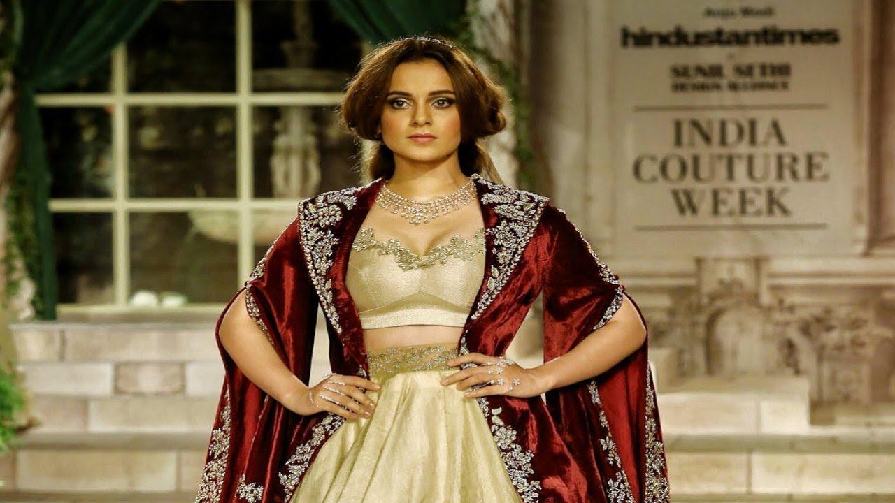 3d147502a5 Kangana Ranaut Walks For Anju Modi | India Couture Week 2018 - YouTube