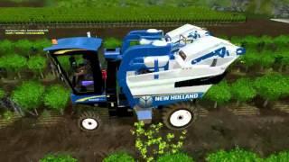 """auteurs origine modèle  dufffr / mimirct3;  3d, scripts,   la NH 9060 et ce qui va avec """"map provisoire de tests et autres"""" est téléchargeable sur:  http://ftta.xooit.eu/t451-T-l-chargement-Vendangeuse-NH9060-et-son-secoueur.htm http://farming-simulator.s"""