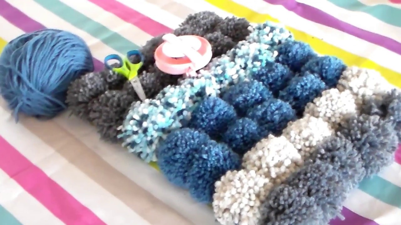 pompons tapis - youtube