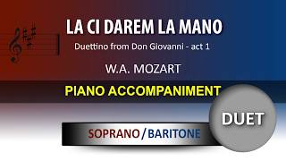 La ci darem la mano / Karaoke piano / Wolfgang Amadeus Mozart / soprano and baritone