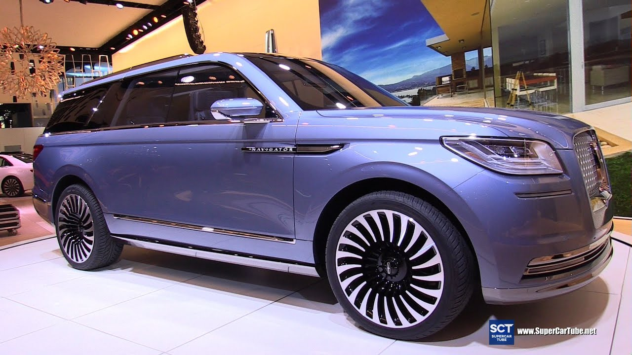 2017 lincoln navigator concept exterior walkaround 2016 new york auto show youtube. Black Bedroom Furniture Sets. Home Design Ideas
