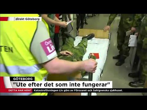 Svensk terrorberedskap testas i Göteborg - Nyheterna (TV4)
