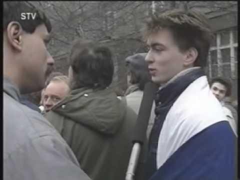 Velvet revolution of 1989 in Czechoslovakia