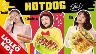 HOTDOG 1 phút vs 10 phút vs 1 tiếng: Các NÀNG CÔNG CHÚA DISNEY trổ tài nấu nướng