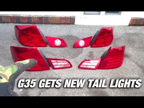 Installing 05 06 Taillights On The G35 Sedan