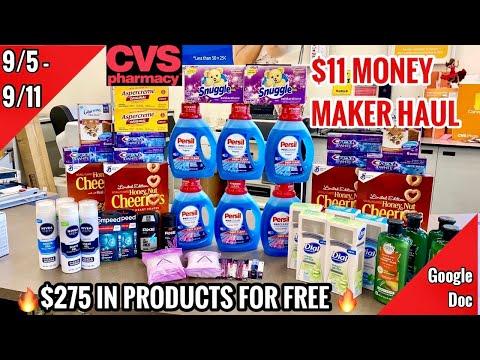 CVS Free & Cheap Coupon Deals & Haul | 9/5 – 9/11 | $11 Money Maker Week! | $275 SAVED🔥