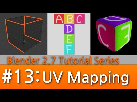 Blender 2.7 Tutorial #13 : UV Mapping (Unwrapping for Image Textures)