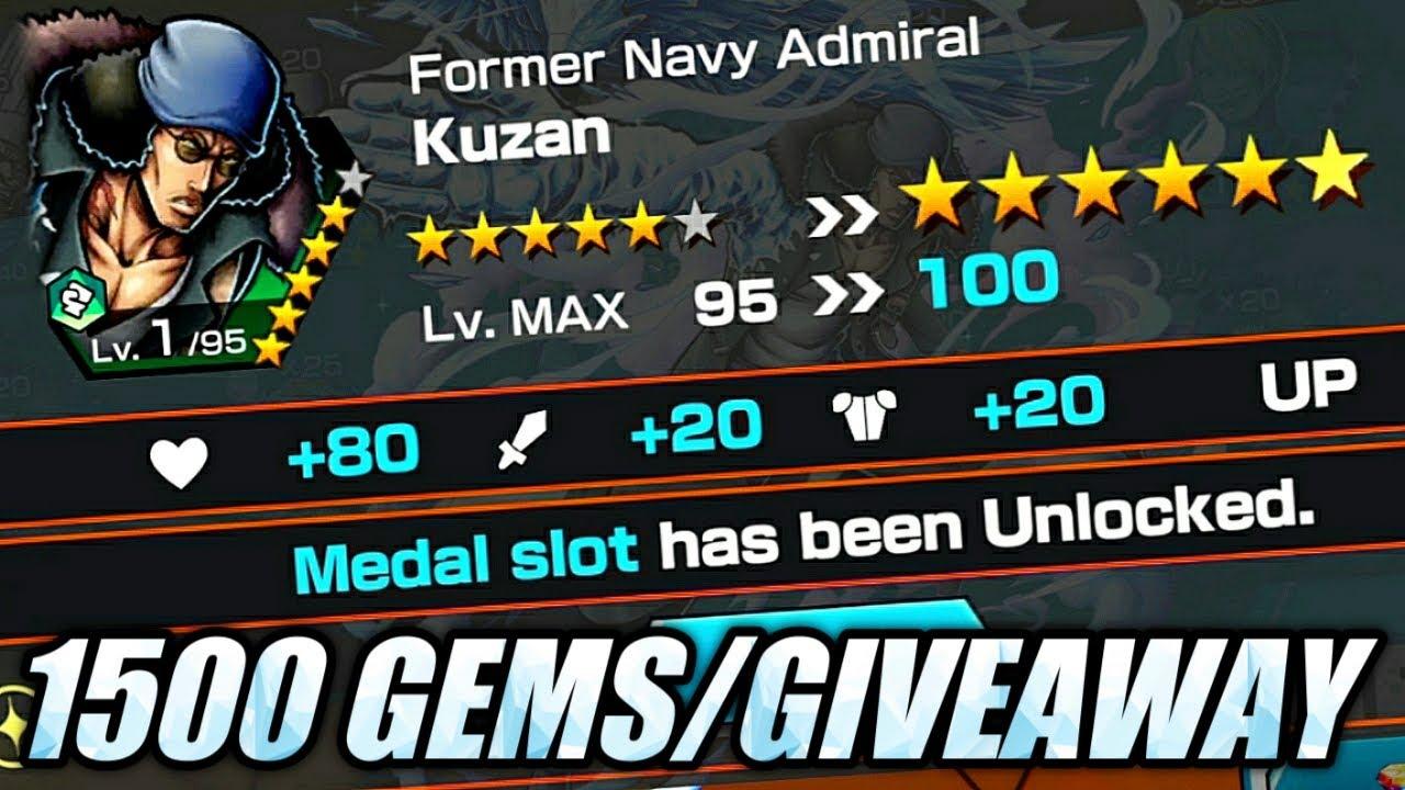1500 Gems Summons + Ts Aokiji Giveaway Account!   One Piece Bounty Rush OPBR