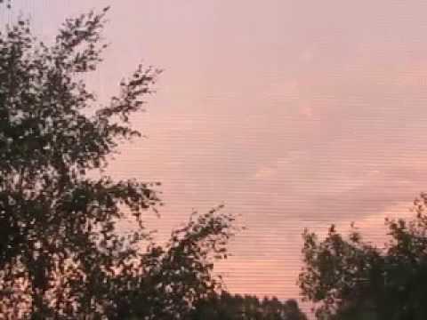 фото красное небо