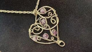 Elegant Silver Heart Necklace - Eps 121