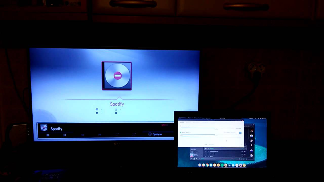 Live audio streaming to TV with DLNA on Ubuntu