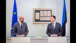 Jüri Ratase ja Charles Micheli pressikonverents, 15. oktoober 2019
