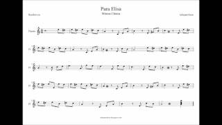 Para Elisa Partitura flauta, sax, violin, trompeta, oboe, chelo, viola, clarinete, tenor, soprano...