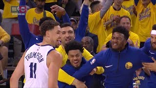 Klay Hits a Three, Bench Goes Wild | Pelicans vs Warriors - Game 1 | April 28 | 2018 NBA Playoffs