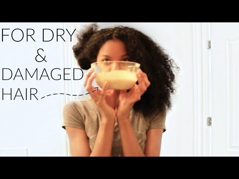 Diy Homemade Deep Conditioner For Damage And Dry Natural Hair