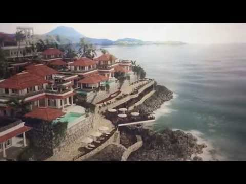 3d fly-through animation of villas on Bali island/Indonesia