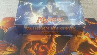 MTG Modern Masters 2017 Booster Box Opening. WHAT?? 5 FETCH LANDS WHAT !!!