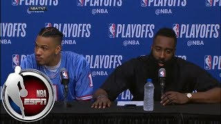 [FULL] Despite going 2-for-18, James Harden is 'more happy than anybody right now' | NBA on ESPN thumbnail