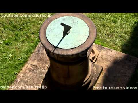 FREE Time-lapse stock footage : Sun dial CC-BY NatureClip