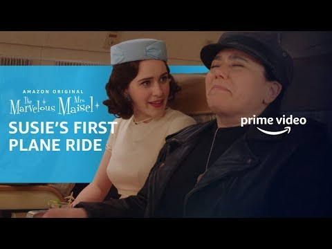 The Marvelous Maisel   Susie Myerson First Flight Scene   Prime Video