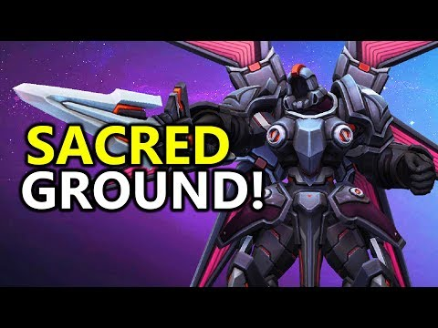 ♥ The NEW Sacred Ground Tyrael - Heroes of the Storm (HotS Gameplay)