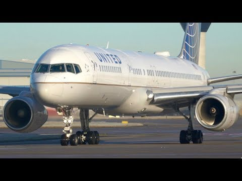 25 Minutes of Up Close Sunrise Winter Departures- Manchester Airport- Runway 23L