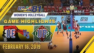 UAAP 81 WV: UE vs. UP | Game Highlights | February 16, 2019