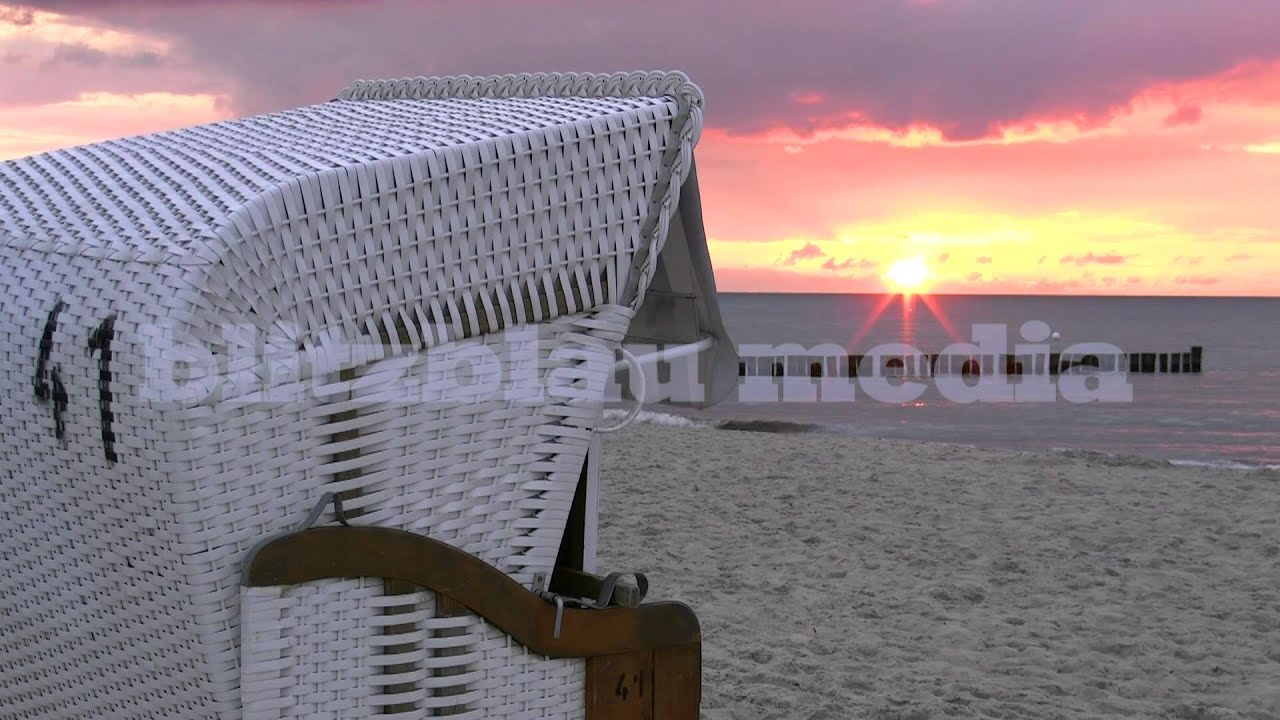 Strandkorb wallpaper  Stock Footage Europe Germany Baltic Sea Beach Ostsee Mecklenburg ...