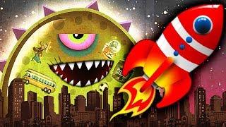 - ХИЩНЫЙ СЛИЗЕНЬ УГНАЛ РАКЕТУ Мульт игра для детей про ОПАСНОГО ГОЛОДНОГО СЛИЗНЯ Mutant Blobs Attack