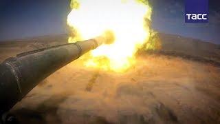 Российские танкисты отрабатывают поражение целей на удалении до 2 км