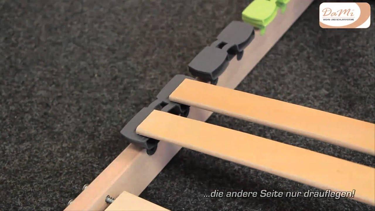 Boxspringbett ikea 180x200  Aufbauanleitung DaMi Lattenrost Basic NV - YouTube