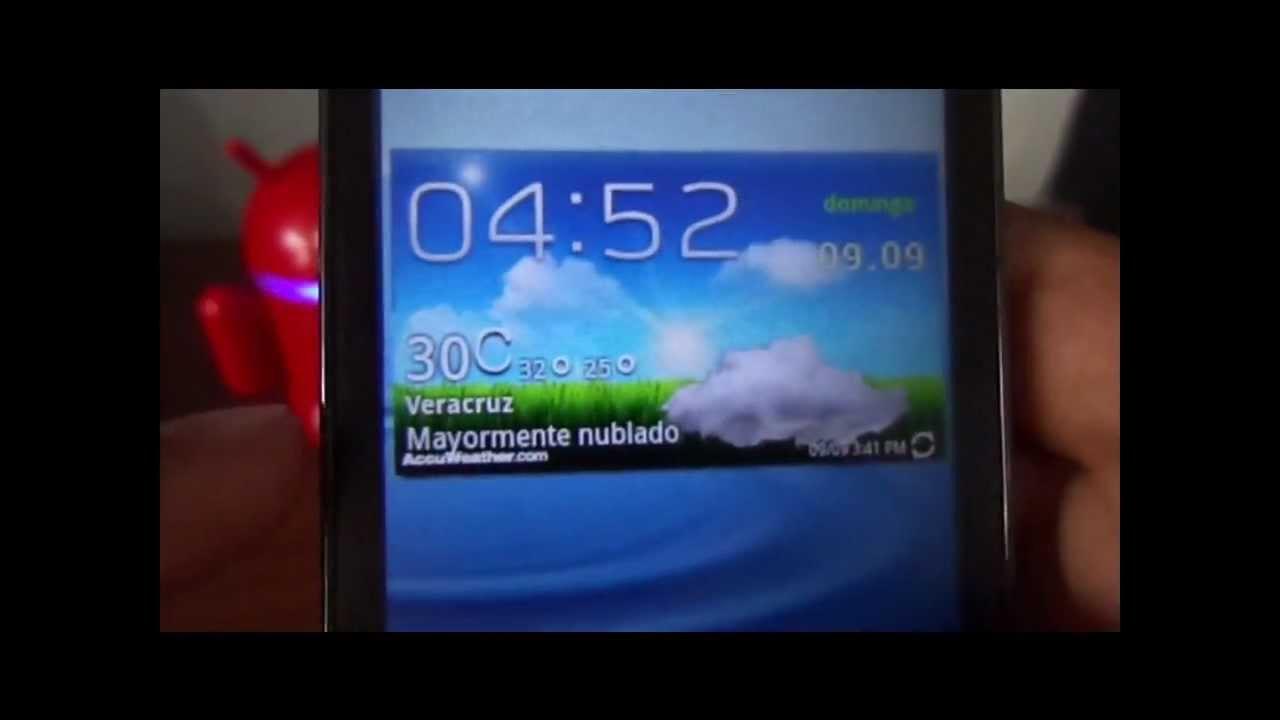 Widget Del Clima De Touchwiz 5 0 Galaxy S3 Espa Ol Youtube