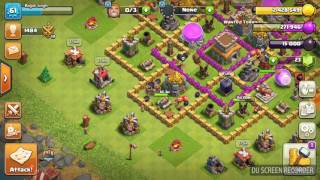 How to move town hall in water or trees in clash of clans.