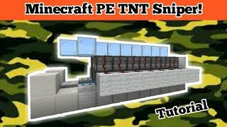 Minecraft PE how t๐ make a TNT Sniper!!