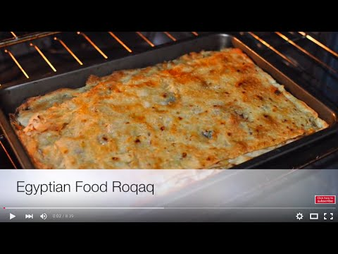 Egyptian Food Roqaq Recipe