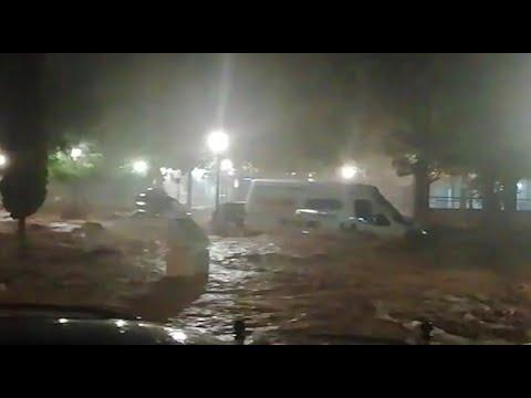 La gota fría inunda la localidad de Teba, en Málaga