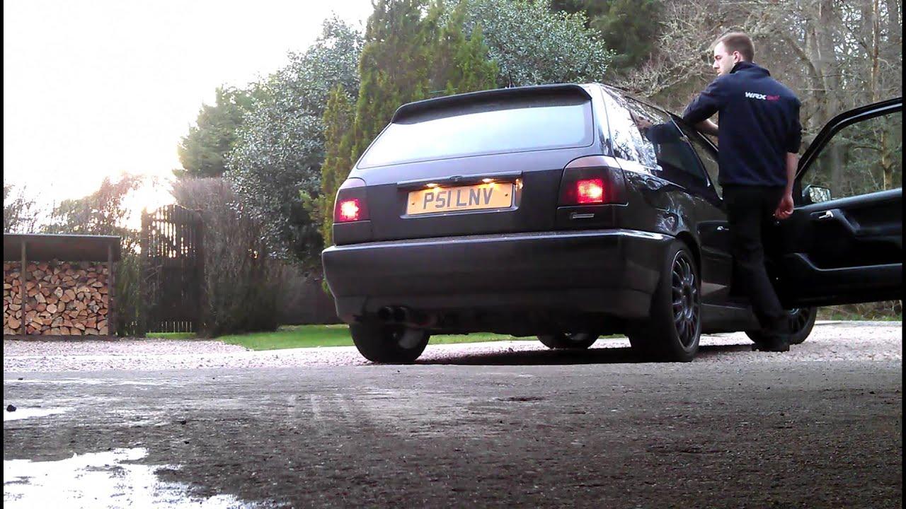 V9f Vortech supercharged 28 vr6 mk3 golf exhaust sound  YouTube