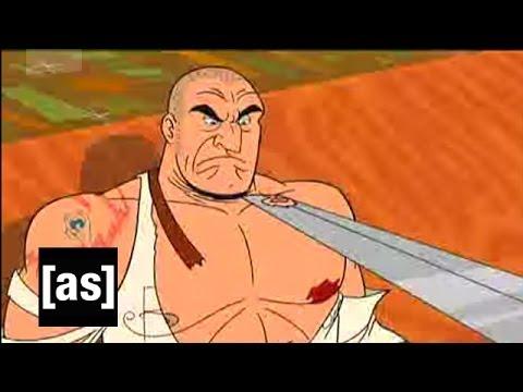 Shish-kababbing a Swordsman